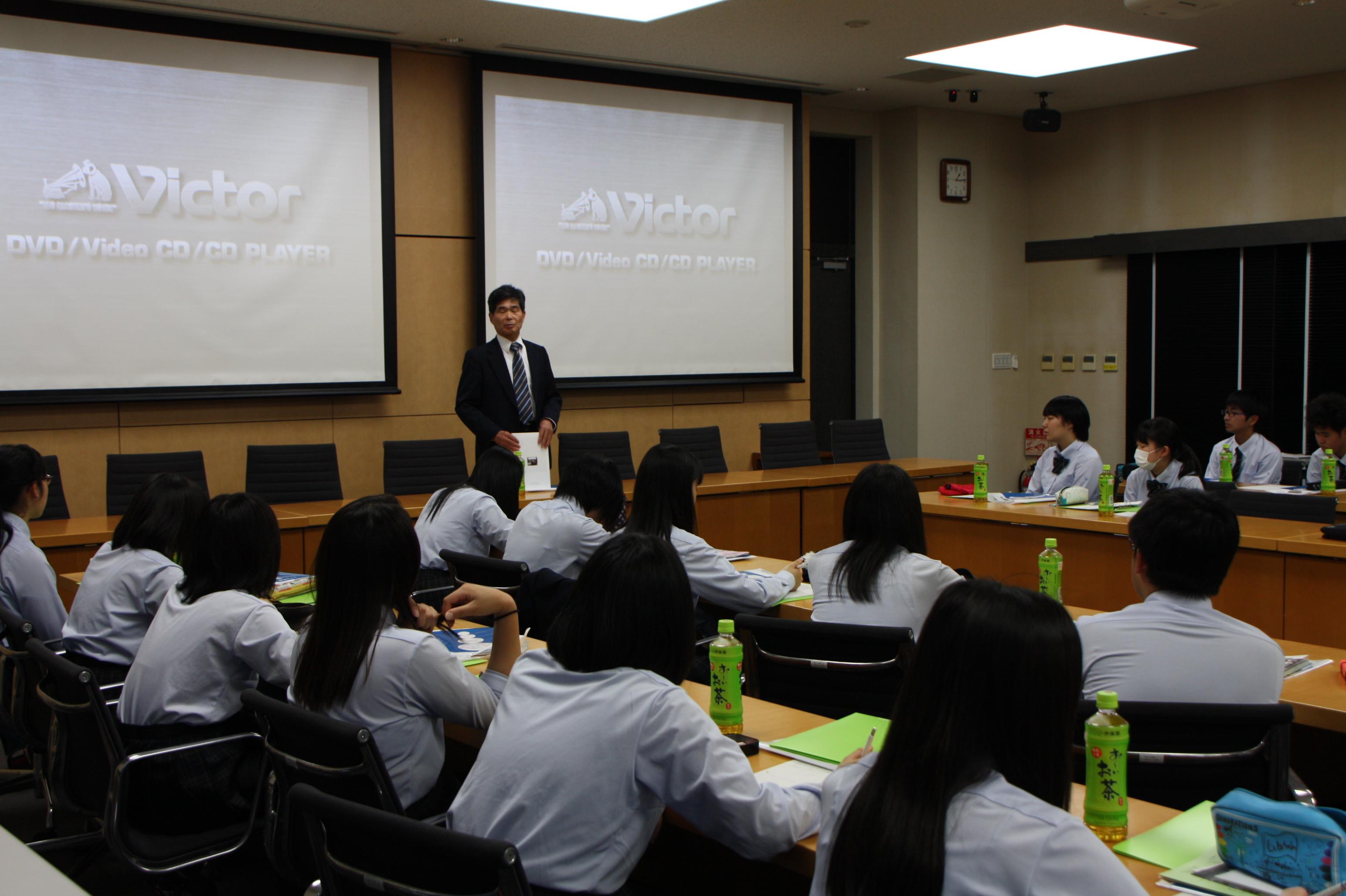 栃木県立足利南高校の皆さんが大学見学